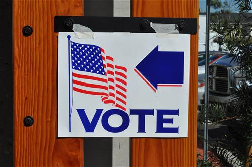 Photo of a &#39Vote&#39 sign
