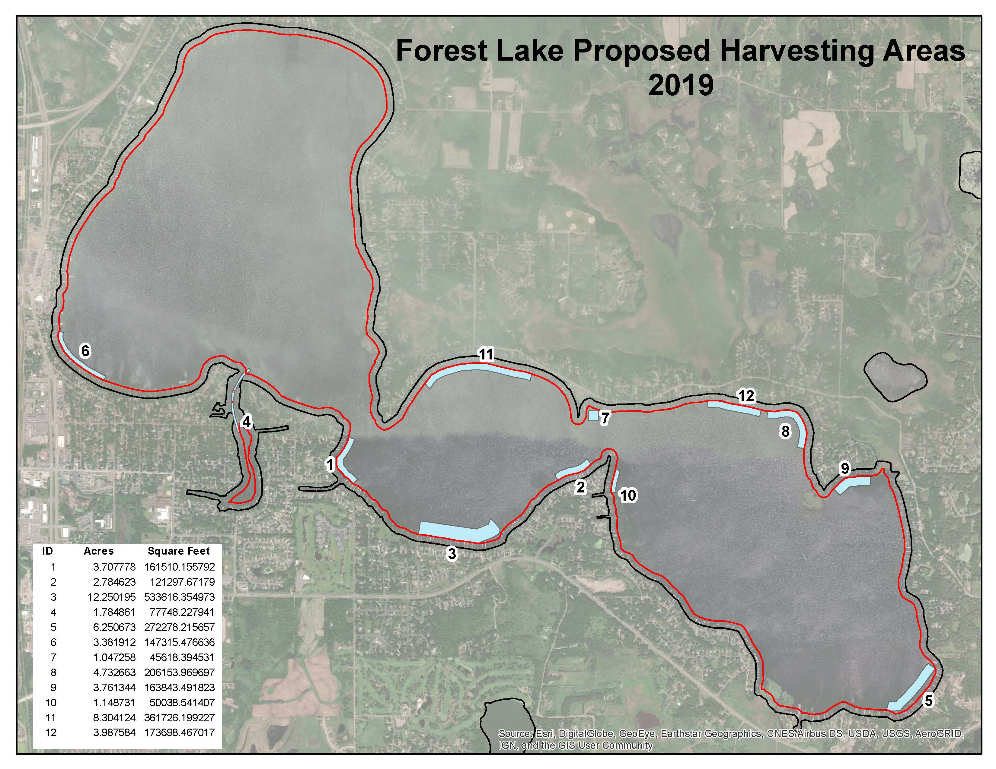 2019 Proposed FL Harvest Areas